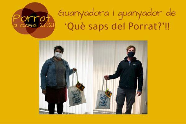 Persones premiades del concurs 'Què saps del Porrat?'